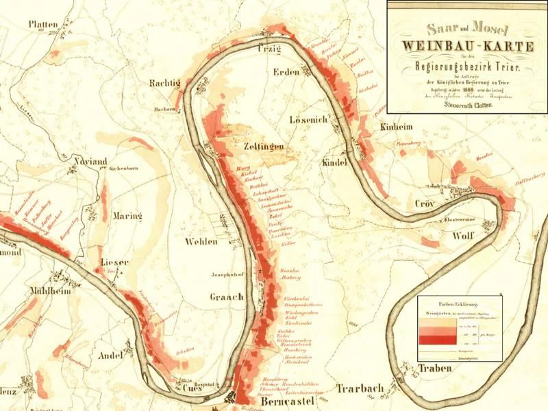 Mosel Karte Mit Allen Orten.Das Herz Der Mittelmosel